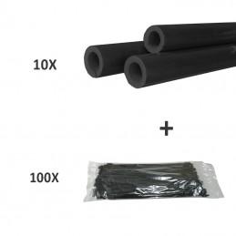 10 X TUBO DE ESPUMA + 100 X ABRAÇADEIRA IN-LINE