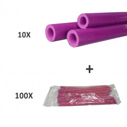 10 X TUBO DE ESPUMA + 100 X...