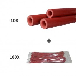 10 X FOAM TUBE + 100 X CABLES TIES IN-LINE