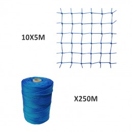 Red de Nylon 5X10M + Hilo...