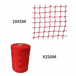 Filet en Nylon 5X10M + Fil...